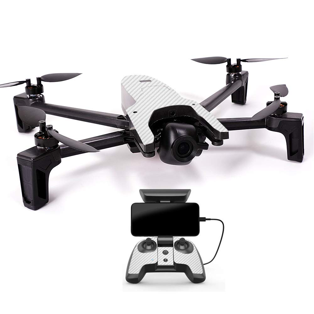 MightySkins スキンデカールラップ オウムステッカー保護カバー 100色展開, Minimal Drone & Controller Coverage, PAANAMIN-Ripped B07H7R18JK Minimal Drone & Controller Coverage|ホワイト カーボンファイバー ホワイト カーボンファイバー Minimal Drone & Controller Coverage