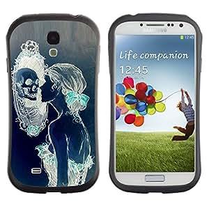 Fuerte Suave TPU GEL Caso Carcasa de Protección Funda para Samsung Galaxy S4 I9500 / Business Style Woman Mirror Deep Meaning Beauty