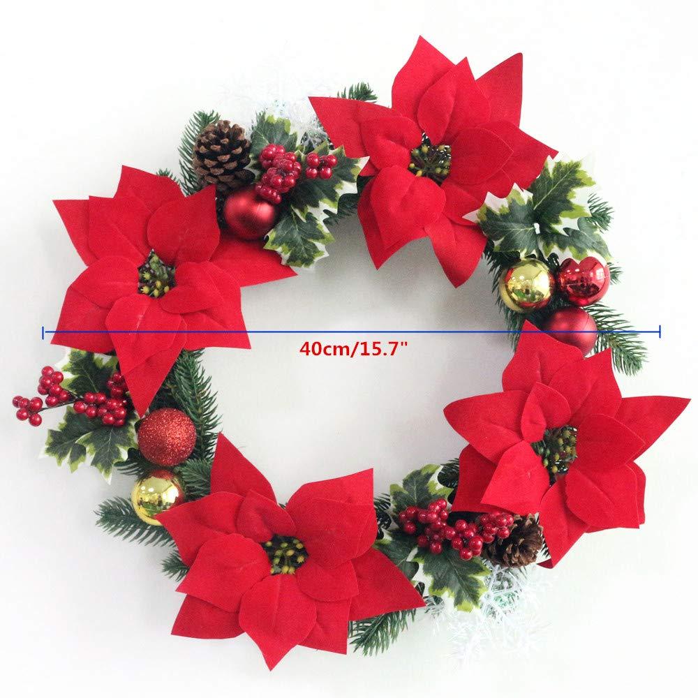 Amazon Com Jarown Christmas Wreath 15 7 Artificial Greenery