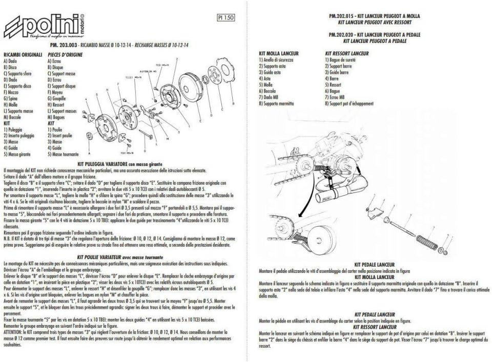 Motodak Disque Embrayage Cyclo Compatible avec 103 SP//mvl//Vogue