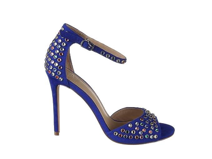Paris Abbigliamento Primavera Flpar1 Estate Sue03 Amazon Scarpe Sandalo Blue Guess Donna 2018 it EBwqO7FW