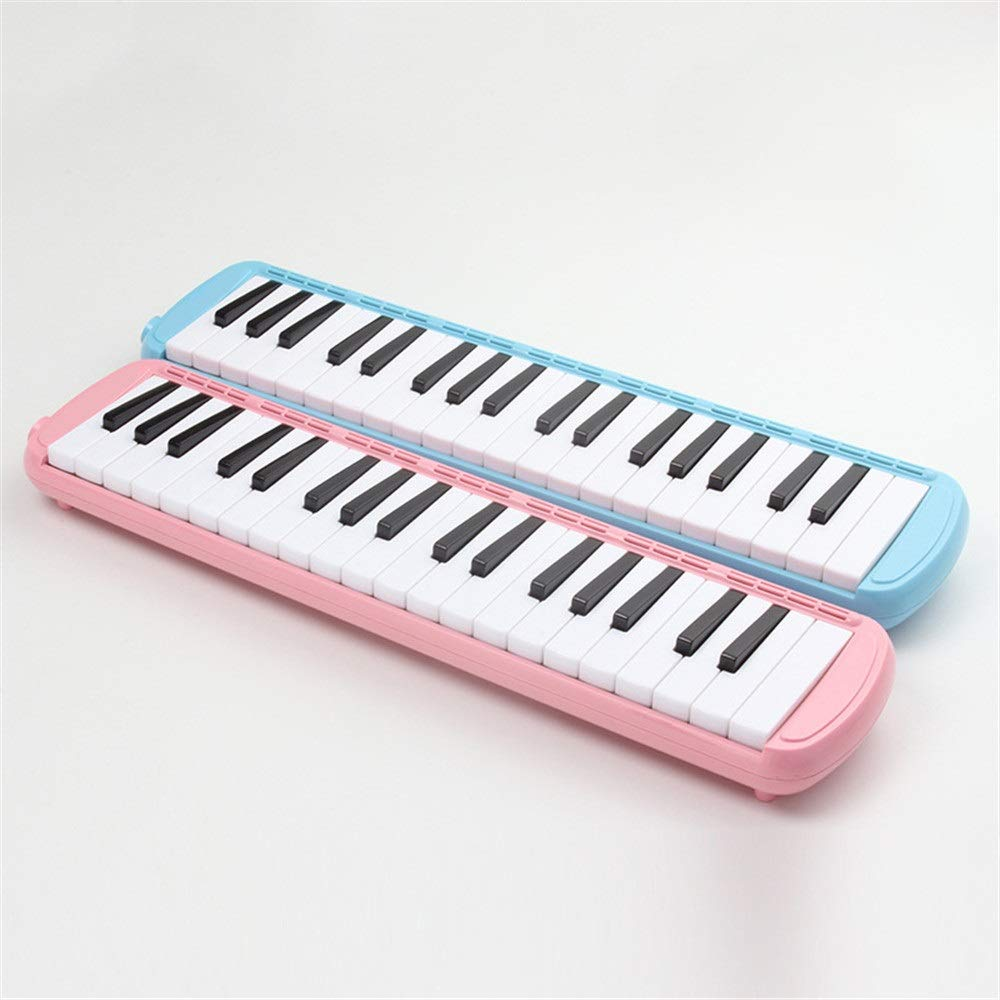 Melodica Musical Instrument 37 Keys Kids Musical Piano Melodica Instrument Gift Toy Pianica Melodica For Music Lovers Beginners Portable With Mouthpieces Tube Sets Carrying Bag Pink Blue For Music Lov by Kindlov-mus (Image #5)