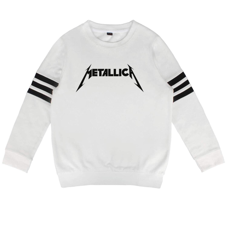 Gwende Zeno Boys Girls Pullover Sweaters Metallica Crew Sweatshirt