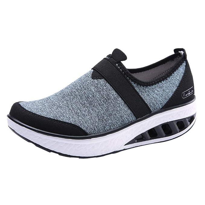 Sneakers Mujer Zapatos Casuales De OtoñO E Invierno Aumentar Shoes Cuña De Zapato Mecedora Botas Zapatillas Ligeras Transpirables YiYLunneo: Amazon.es: Ropa ...