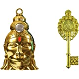 SAHAYA Combo of Hanuman Chalisa yantra Locket with chain & Vastu Fengshui Kuber Kunji Key