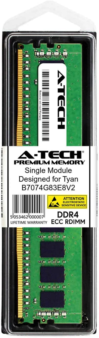 A-Tech 8GB Module for Tyan B7074G83E8V2 Server Memory Ram AT361853SRV-X1R14 DDR4 PC4-21300 2666Mhz ECC Registered RDIMM 2rx8