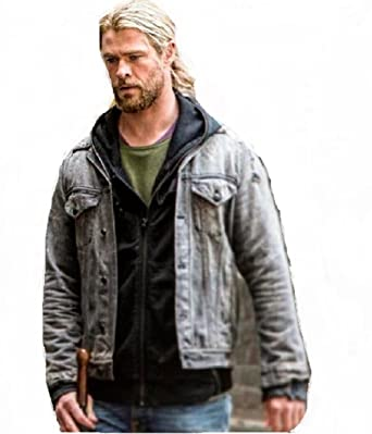 afb247d3708 Chris Hems worth Thor Ragnarok Jacket Denim Fabric By Gemini Seller (XXX  Large)