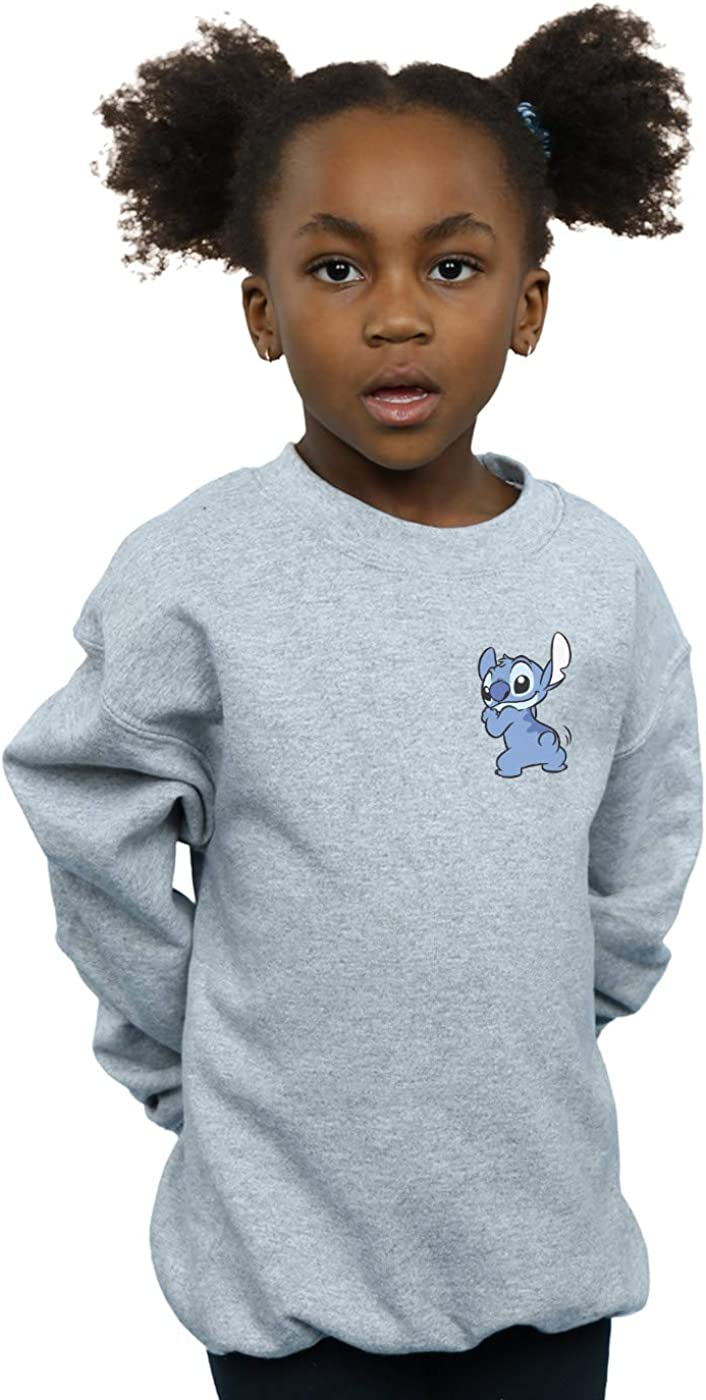 Disney Girls Lilo /& Stitch Stitch Backside Breast Print Sweatshirt