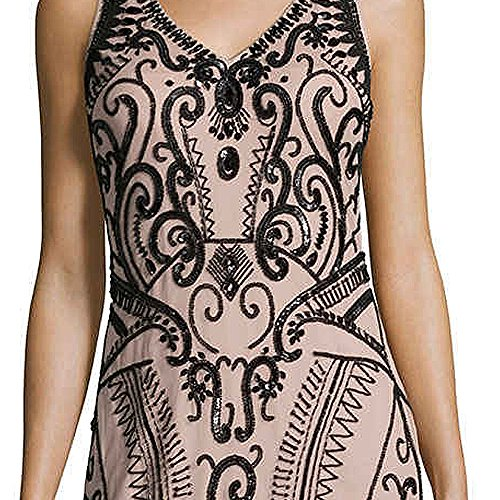 Cocktail Sheath Mattox Aidan Neck Sleeveless Dress Mattox Aidan V Aidan Embellished RUxzAq