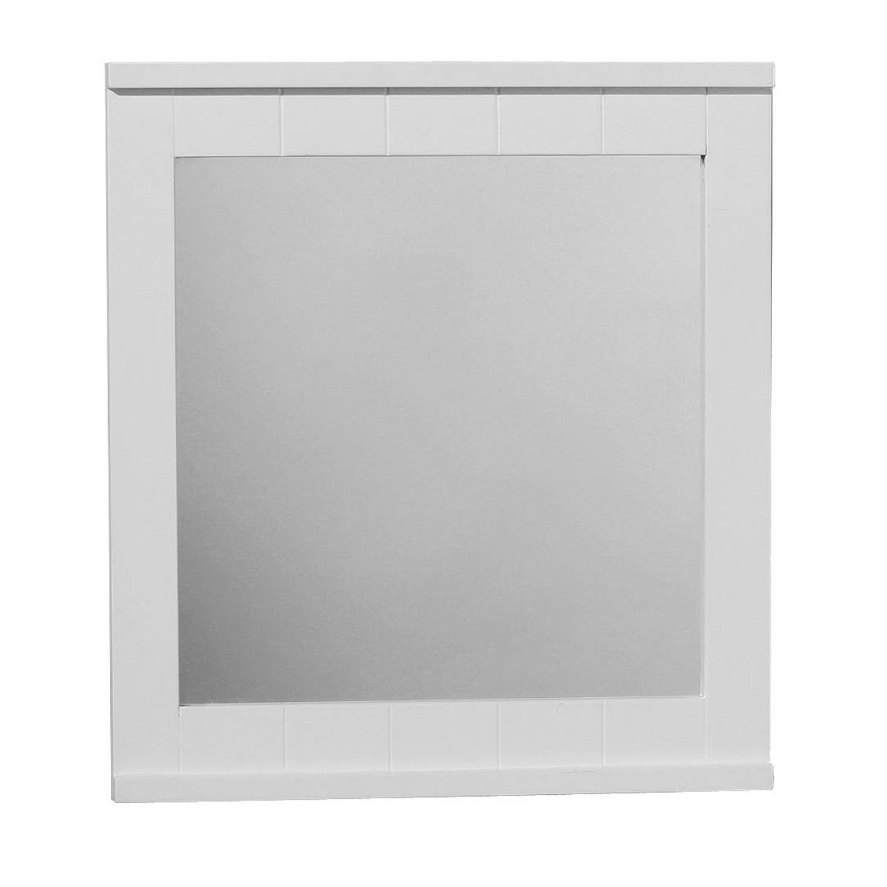 WALL MIRROR WITH WHITE WOOD FRAME FOR BATHROOM HOME: Amazon.co.uk: Kitchen  U0026 Home