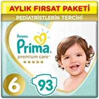 Prima Bebek Bezi Premium Care 6 Beden 93 Adet Junior Aylık Fırsat Paketi
