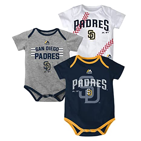 new styles ef2de e3375 Amazon.com: Outerstuff San Diego Padres Baby/Infant Three ...