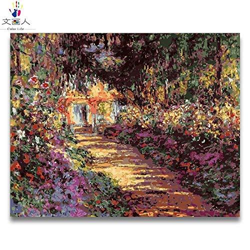 venta caliente en línea 100x80 no frame KYKDY Pintura para Colorar Colorar Colorar de DIY por números Fotos de jardín de Monet por números con Colors pintados a mano pintura enmarcada para la decoración de la sala de estar, 2264,100x80 sin marco  aquí tiene la última