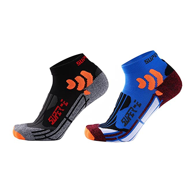 Zhhyltt Calcetines de Running para Hombre Calcetines Sneakers Invisible Antideslizante Calcetines de Compresión para Hombres y Mujeres Compression ...