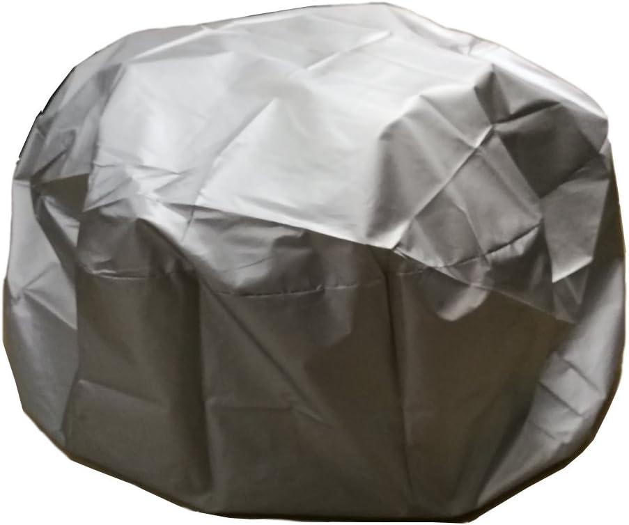 quemador de le/ña para estufa protecci/ón UV resistente al agua de lluvia LU2000 al aire libre redonda para hoguera Protector de lluvia Plata