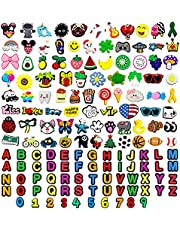 Kinear 150pcs Different Shape Charms for Shoes Wristband Decoration Party Gifts