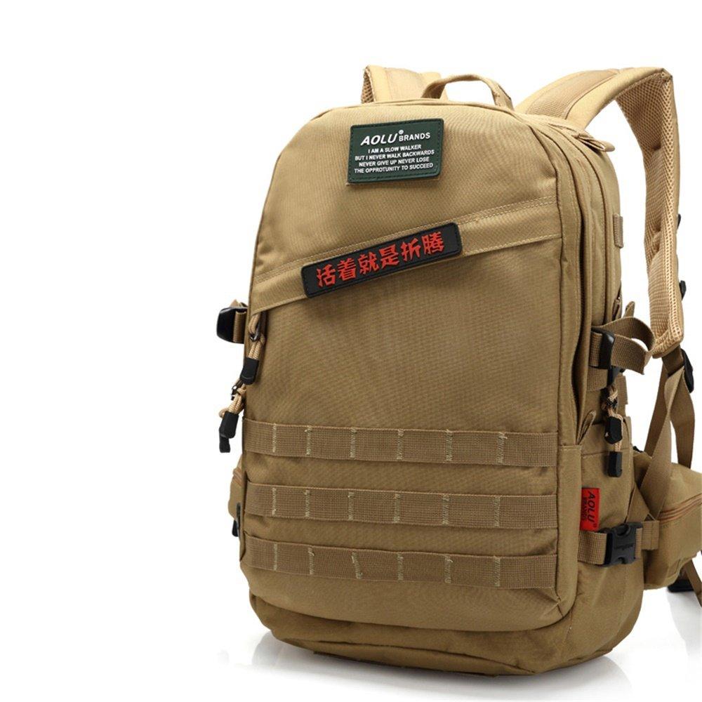 OUTDOOR Coco Khaki Wandern Rucksack, Wasserdicht Oxford Paket Sport Reisen Trekking Laufen Männer (größe   Waist Bag 45L)