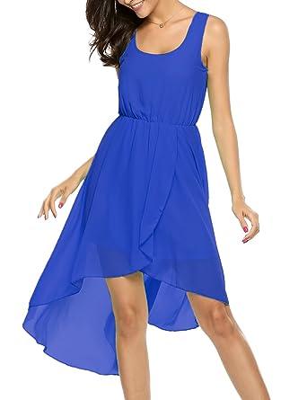 5e3637d50 Amazon.com  BEAUTYTALK Women s Chiffon Sleeveless Dresses Sexy ...