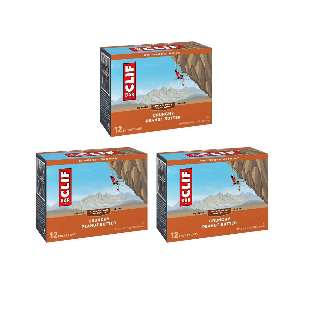 Clif Bar Energy Bar Crunchy Peanut Butter - 2.40 oz. 12 Bars - Pack of 3 by Clif Bar