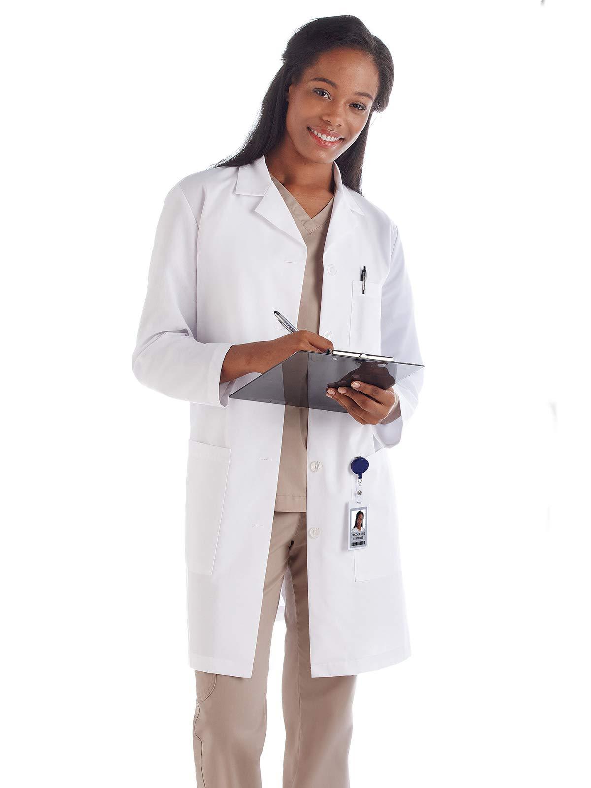 Meta Fundamentals 15113 Women's 37'' Lab Coat White 3XL