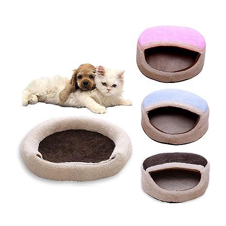 La Vie - Cama para mascotas (cálida y acogedora), diseño de gato con