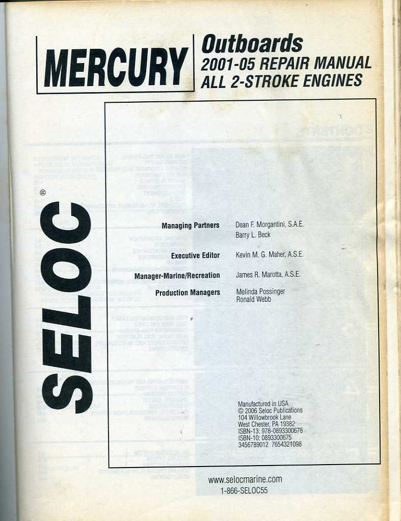 Mercury Outboards 2001-05 Repair Manual All 2-Stroke Engines: Kevin M. G  Maher: 9780893300678: Amazon.com: Books