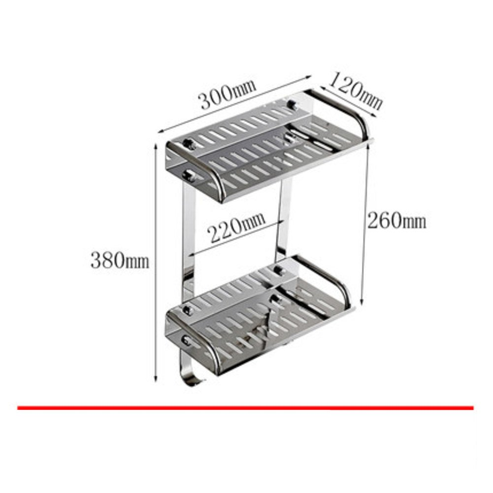 60%OFF Stainless steel bathroom shelf / shower rack/Bathroom kitchen wall rack-E