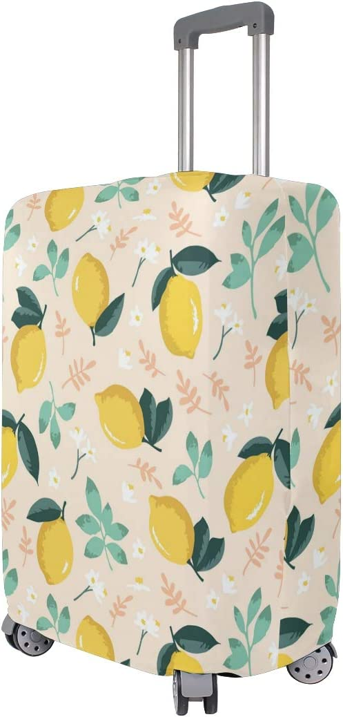 Pink Spring Yellow Lemon Travel Luggage Protector Case Suitcase Protector For Man/&Woman Fits 18-32 Inch Luggage