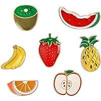 Lindo broche de fruta, serie de dibujos animados insignia de goteo de aleación varias frutas ropa mochila decoración 7…