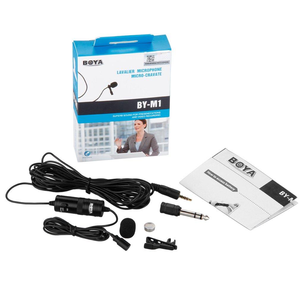 Boya by-M1 Microphone Cravate 3,5 mm pour Smartphone/Canon/Nikon Noir product image