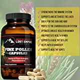 Pine Pollen Capsules - Natural Testosterone Booster - Nootropic Herb Packed with Amino Acids and Vitamin C - Great for Hair/Skin Care - Vegan, Paleo, and Keto Friendly, Gluten Free (150 Ct)