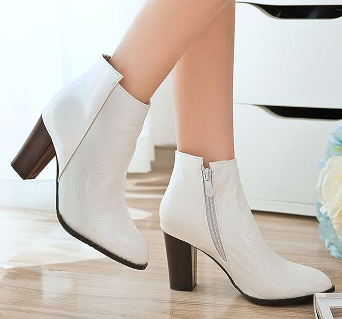 Easemax Femme Mode Chaussure Montante Talon Bloc Bottines  Amazon.fr   Chaussures et Sacs 52262a37becd