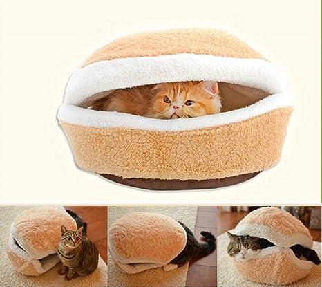 Gato Cesta Hamburger gato cueva de dormir Cama para perros Perros cama cojín tb001
