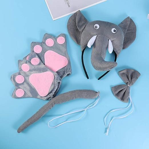 Amosfun - Juego de 5 Piezas de Disfraz de Elefante con Banda para ...
