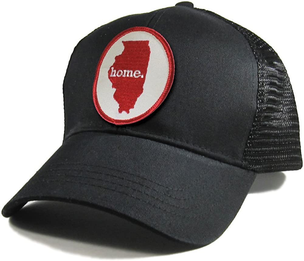Homeland Tees Mens Illinois Home Patch All Black Trucker Hat