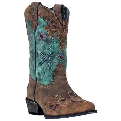 Amazon.com: Dan Post Girls' Blue Bird Cowgirl Boot Snip Toe ...
