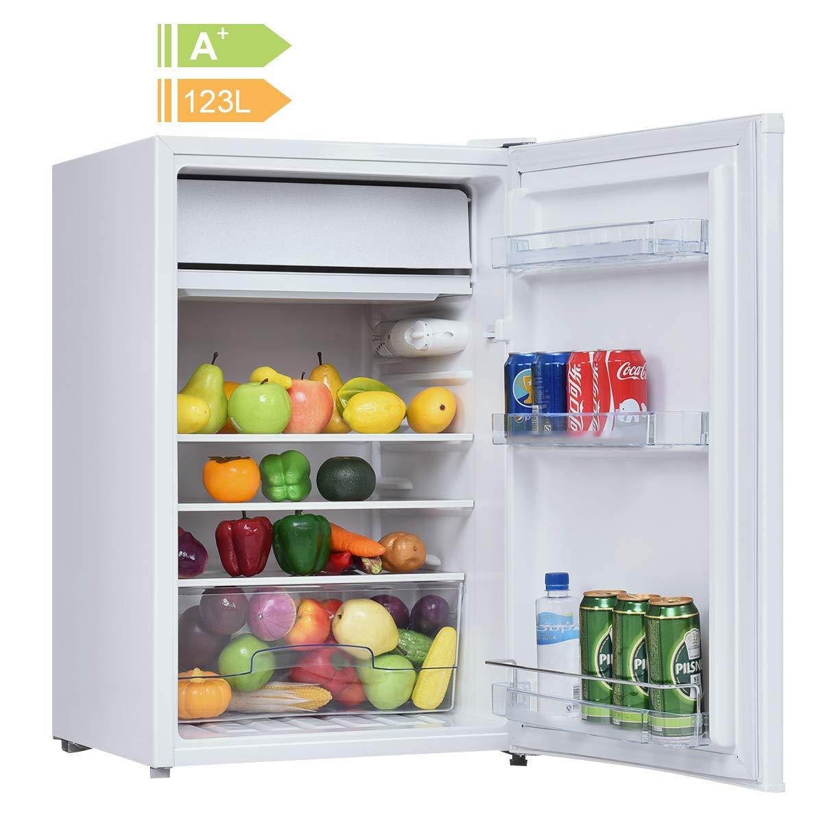 COSTWAY Kühlschrank mit Gefrierfach Minikühlschrank Standkühlschrank ...