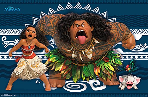 Princess Moana and Maui poster