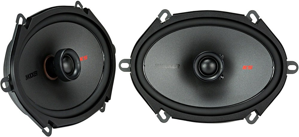 Kicker KSC6804 KSC680 6x8 Coax Speakers with .75 tweeters 4-Ohm 44KSC6804