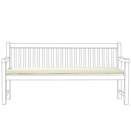 Colchón para banco de jardín 180 cm - Cojín para mobiliario ...