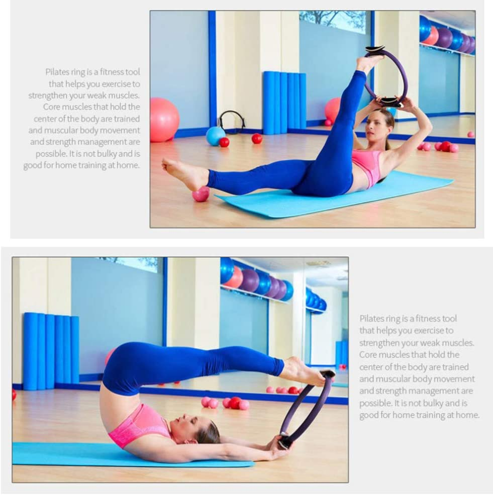 Yoga Fitness Magic Ring Workout Gym Training Muscle Pilates Exercise Resistance