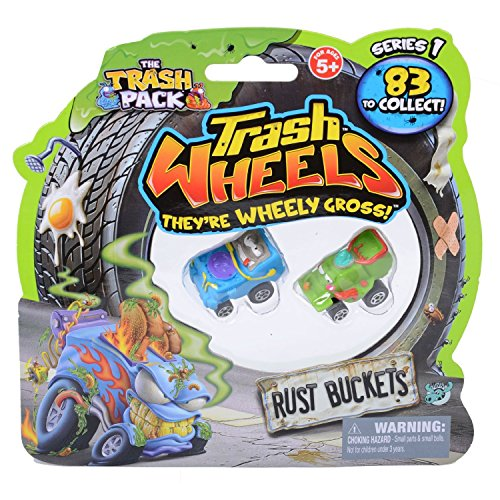 Trash Pack Wheels Rust Buckets Blister (2-Pack) (Bucket Rust)