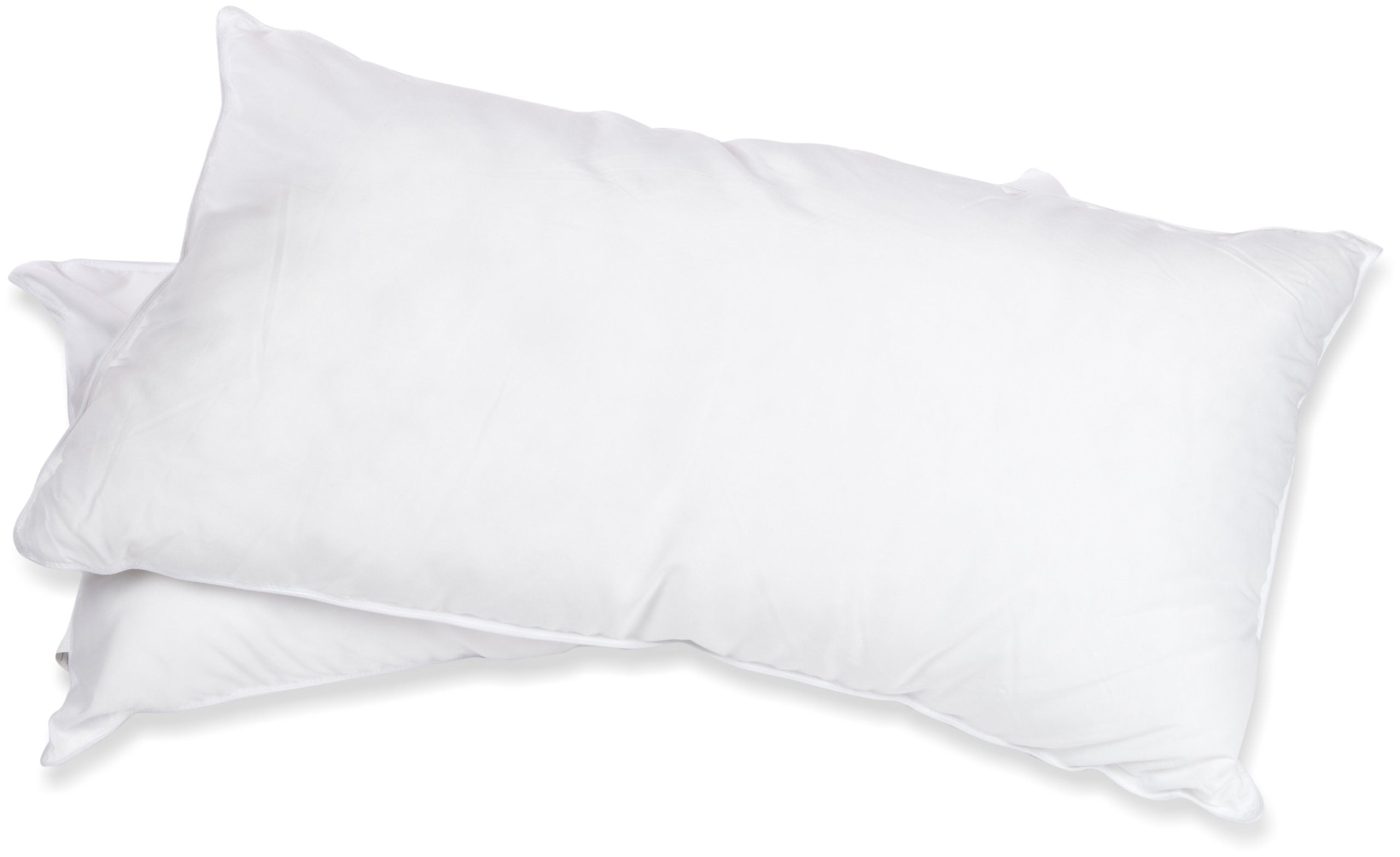 Superior White Down Alternative Pillow 2-Pack, Premium Hypoallergenic Microfiber Fill, Medium Density for Back, Stomach, and Side Sleepers - King Size, Solid White