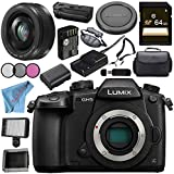 Panasonic Lumix DC-GH5 DC-GH5KBODY Mirrorless Micro Four Thirds Digital Camera Lumix G 20mm f/1.7 II ASPH. Lens (Black) DMW-BGGH5 Battery Grip Bundle