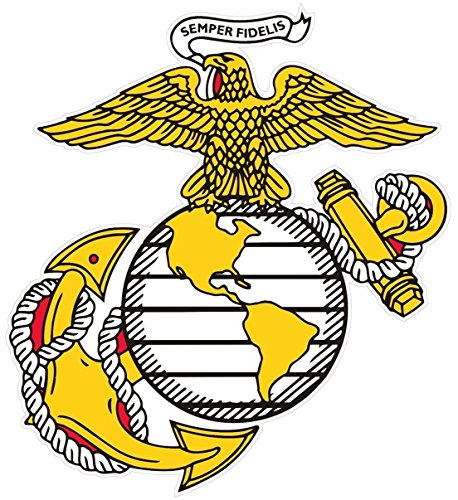 1 Pc Excellently Fashionable Marines Semper Sticker Signs Car Decals Outdoor Vinyl Size 12