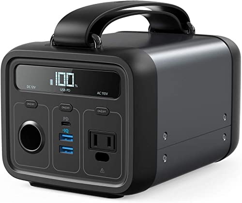 Anker Powerhouse 200, 213Wh 57600mAh Portable Rechargeable Generator Clean Silent 110V AC Outlet USB-C Power Delivery USB 12V Car Outlets, for Fast Charging, Camping, Emergencies, CPAP, and More