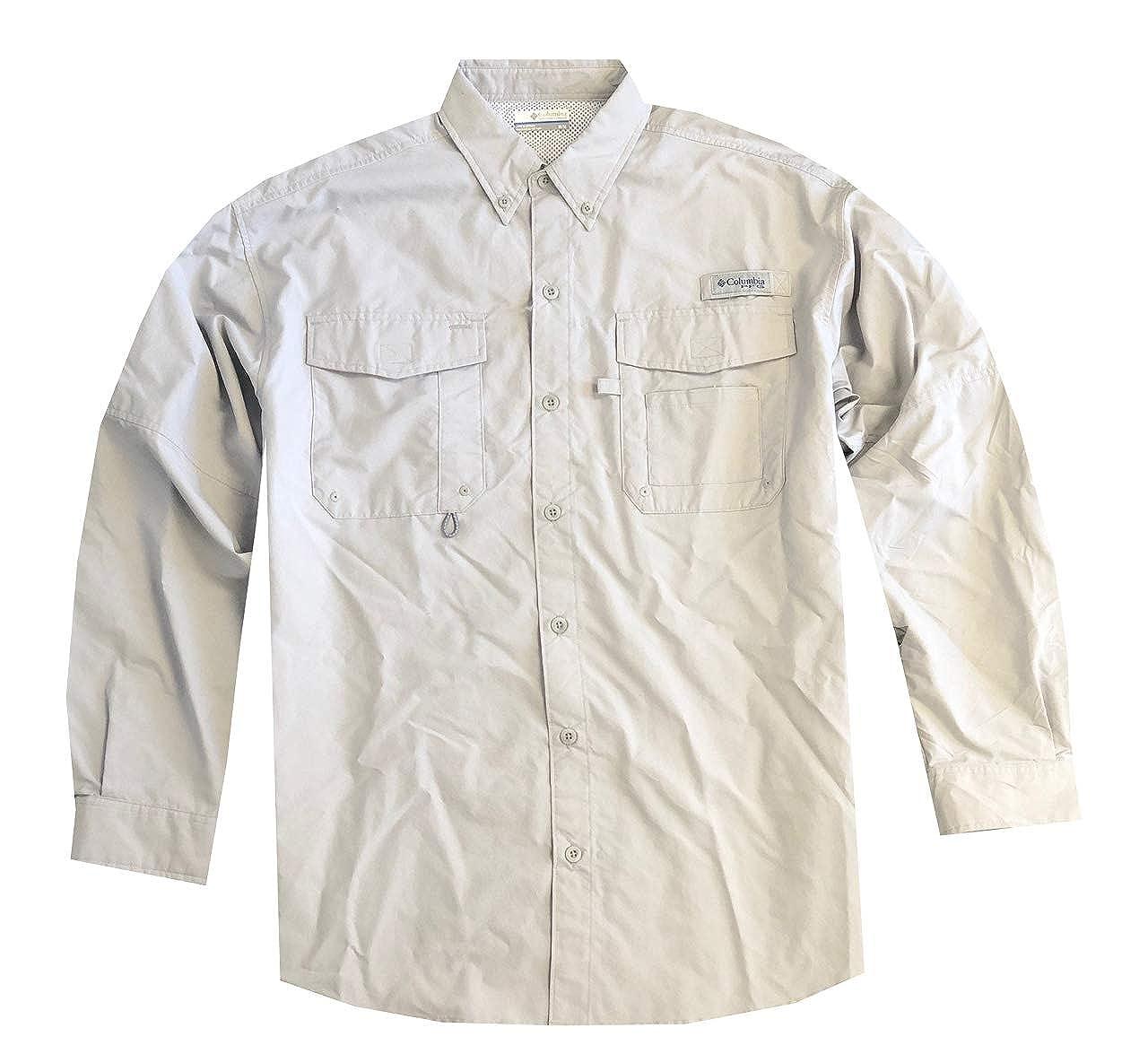 ff60b264f81 Columbia Men's PFG Omni-Shade UPF 30 Distant Water Convertible Sleeve Shirt  at Amazon Men's Clothing store: