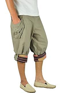 virblatt Pantalones cagados Cortos Especiales de Talla única para Hombres con Patrones Tejidos a Mano…