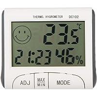 Termómetro Higrometro Digital para Interior Termohigrómetro KKmoon LCD Digital termómetro higrómetro Temperatura Humedad…