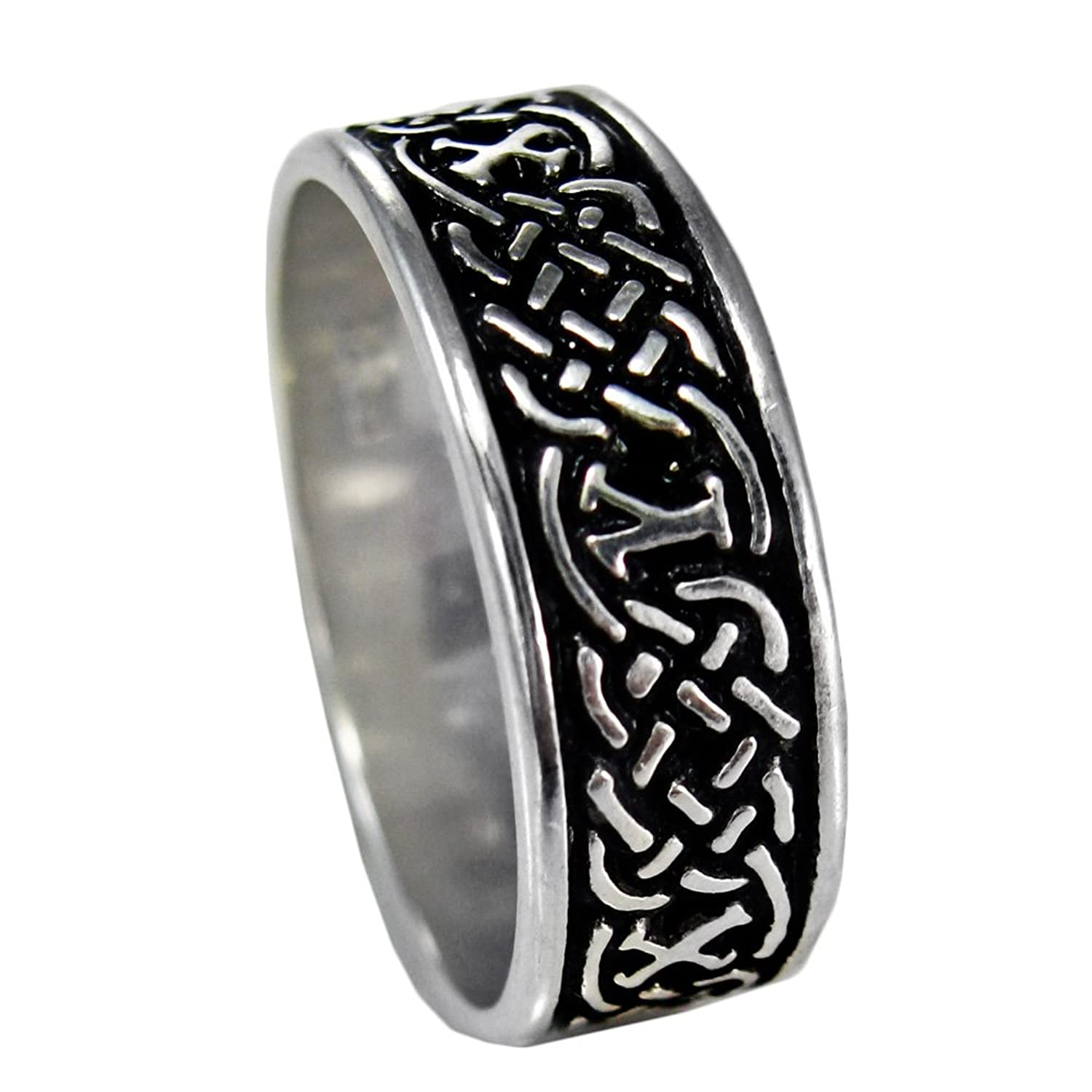 black silvering engagement tungsten jewellery band matching dragon carbide irish mens from rings celtic statement queenwish product wedding gnexleds blue ring
